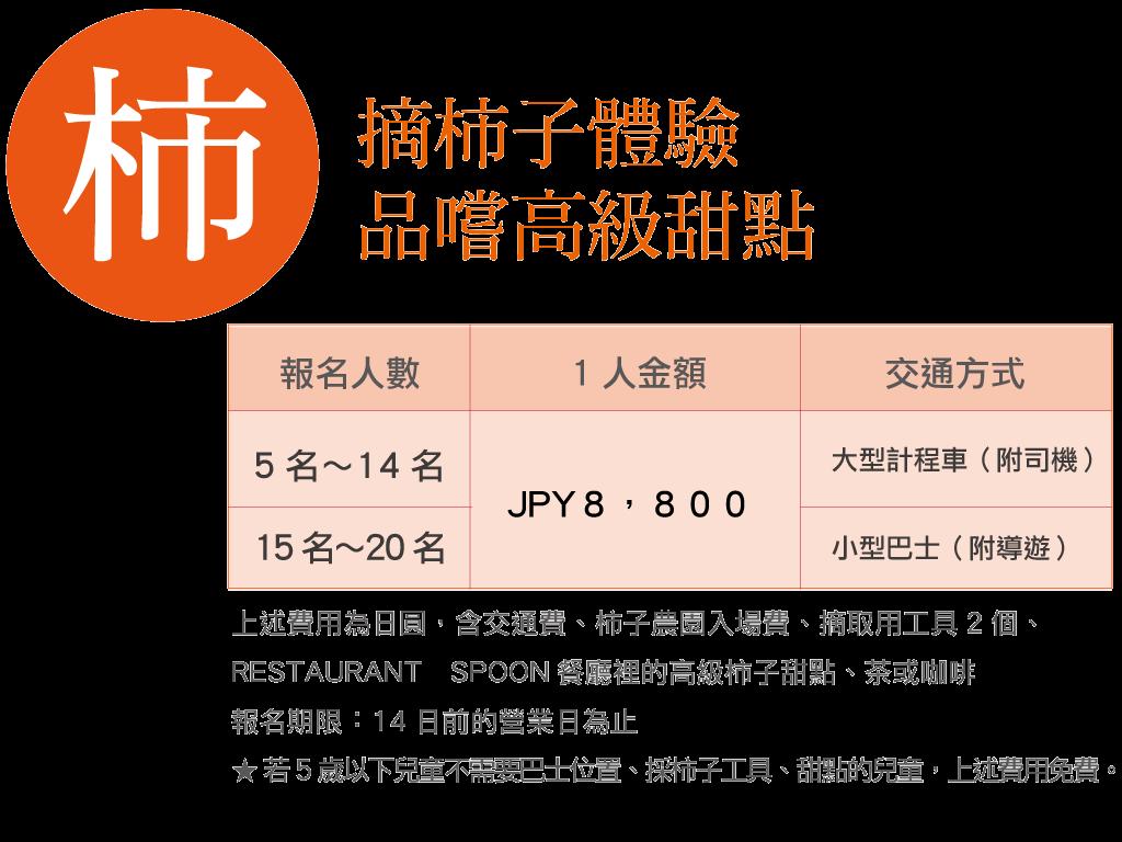 九州摘柿子體驗金額